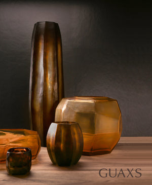 Koonam Tall Vase - Butter Brown