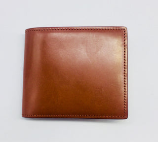 Leather Bi-Fold Wallet - Chestnut