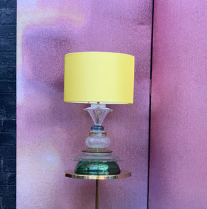 Glass table lamp, Yellow & Emerald