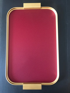 Ribbed Diamond Tray - Gold, 460 x 300mm