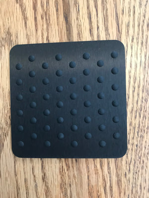Kaymet - Coaster with Rubber Grips, 90x90 mm, black