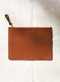 Zipped Leather Clutch