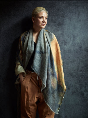 Linen Scarf, Poppy - Yellow
