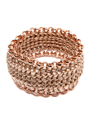 """Circuit"" Rose Gold Bracelet"