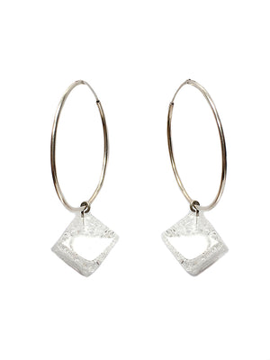 "Large ""Ice Cube"" Earrings"