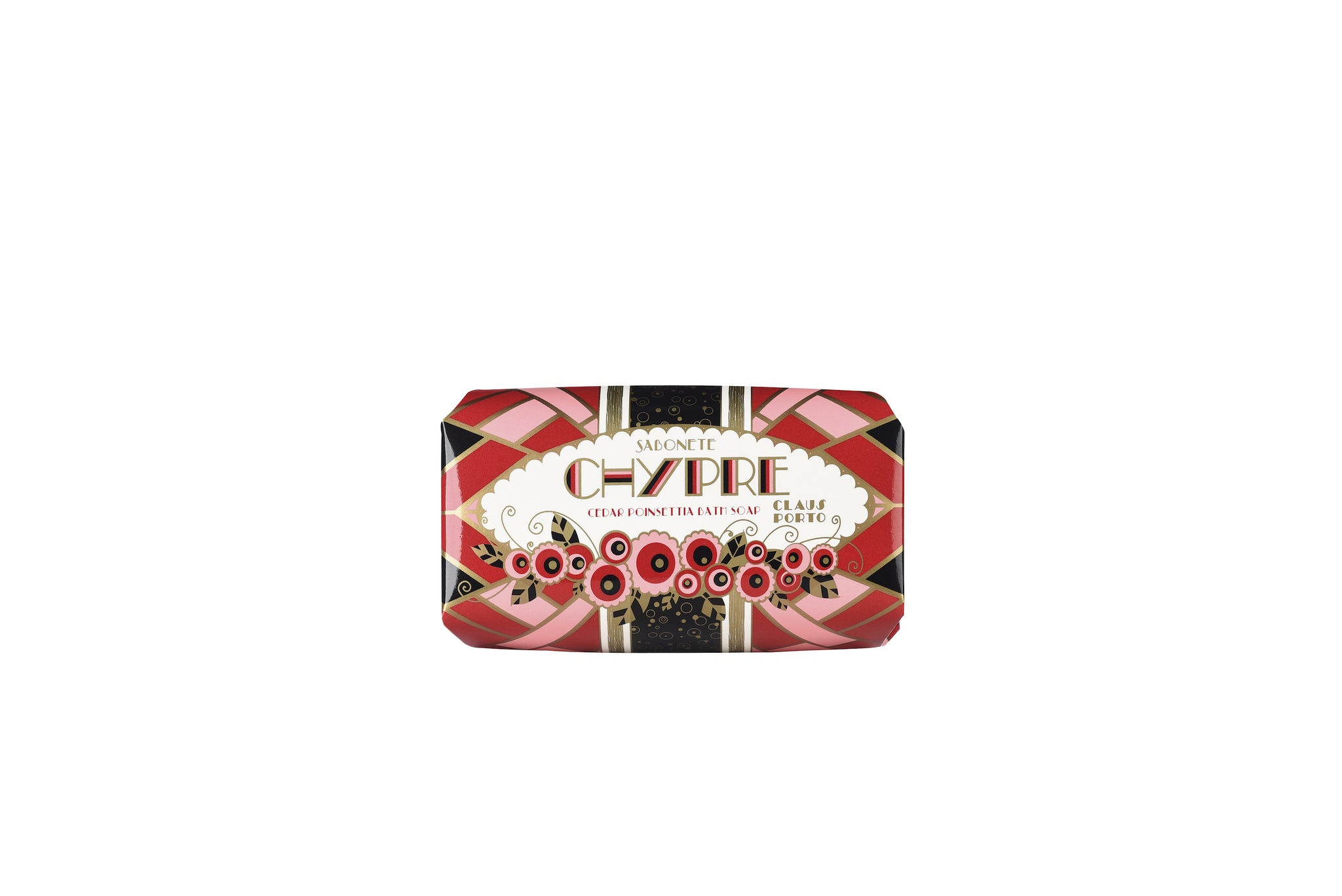 Chypre - Cedar Poinsettia, Deco Soap Bar, 150g