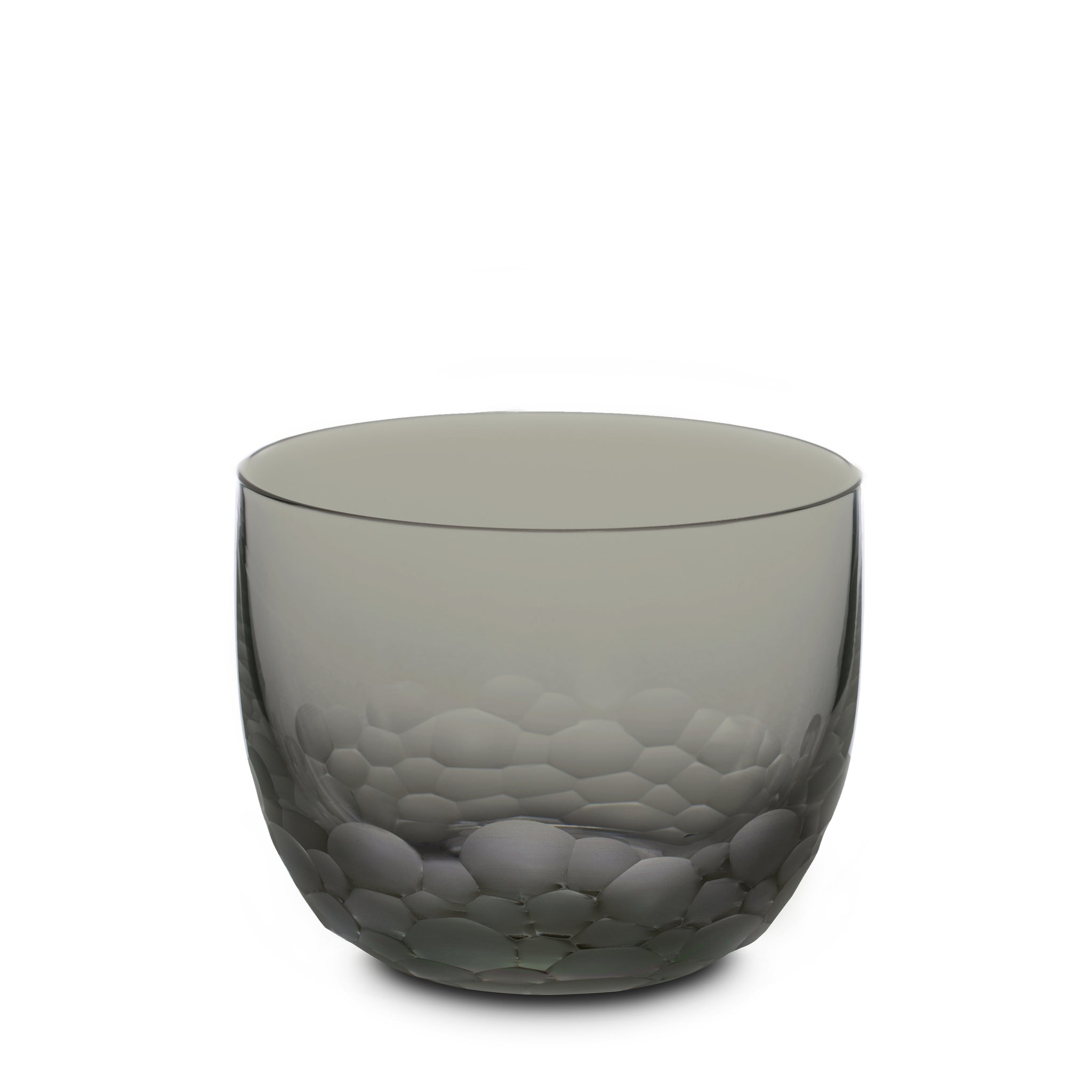 Ottilie Crystal Carved Glass Small - Grey