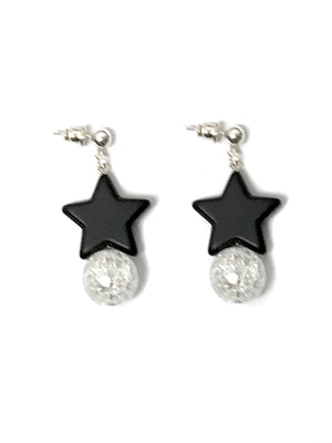"""Midnight Black"" Earrings"
