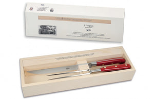 Carving Set, Red Plexiglass