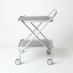 Folding Trolley with Rubber Grip, SILVER