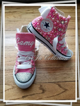 BLING PEARL CONVERSE KIDS PINK