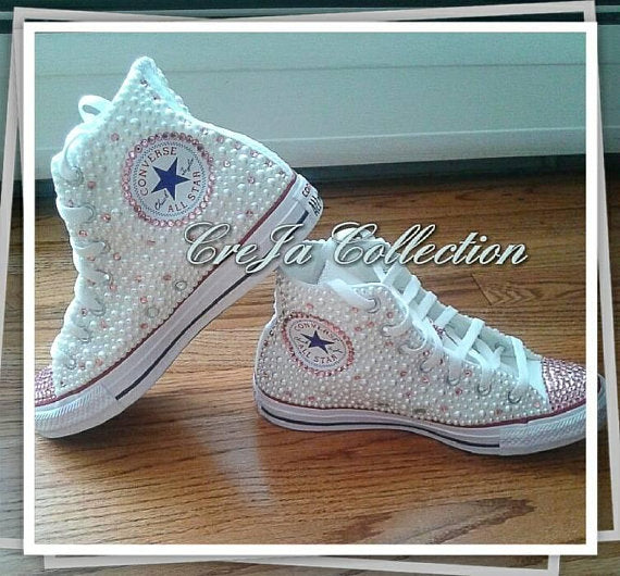 8407dff4e71f CUSTOM SHOES-WEDDING CONVERSE – The Cre Ja Collection