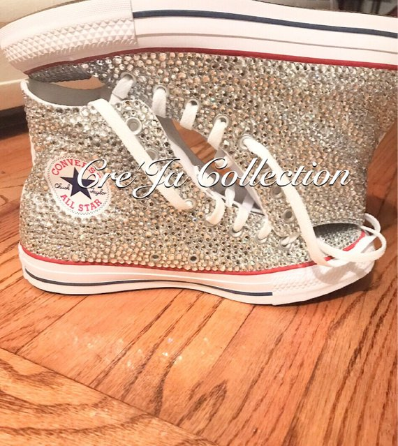 Kids Bling High Top Converse/Chucks