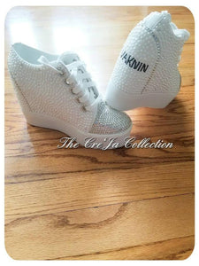BRIDAL/WEDDING PEARL BLING WEDGE