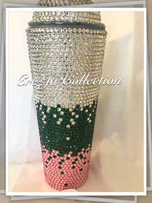 AKA INSPIRED BLING STARBUCKS CUP