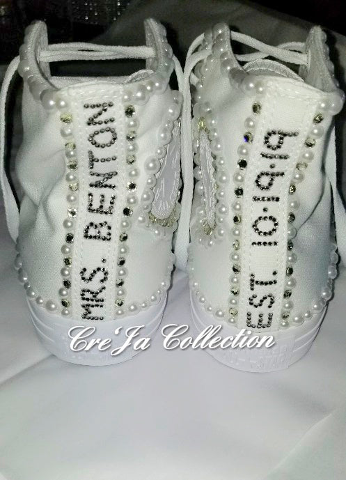 CUSTOM SHOES WEDDING CONVERSE ???The Cre'Ja Collection