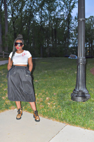 Black POPPIN Overall Skirt