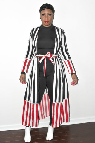 POPPIN Stripped Duster