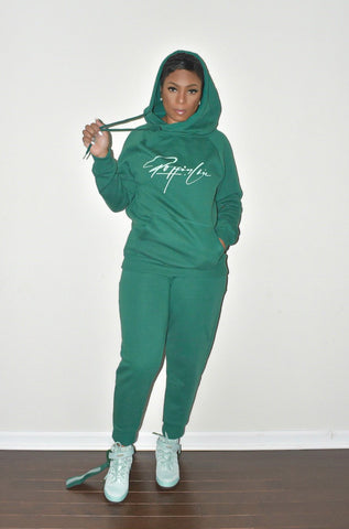 Hunter Side Tie Hooded Sweatsuit