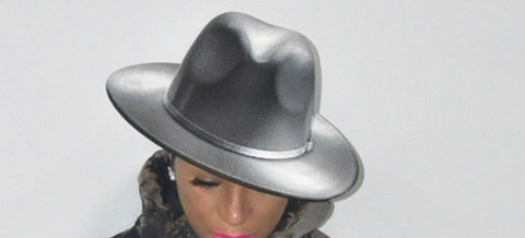 Black and White Painted Fedora