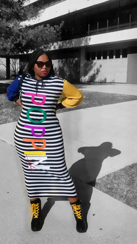 POPPIN Color Block Maxi