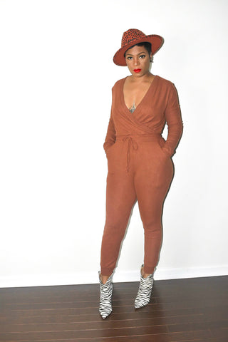 Fall In Love Hazelnut Jumpsuit