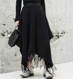 POPPIN Asymmetric Knitted Skirt
