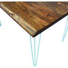 Load image into Gallery viewer, Reclaimed Wood Table with Hairpin Legs