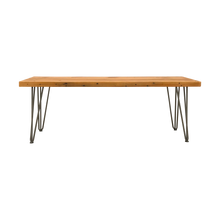 Load image into Gallery viewer, Reclaimed Wood Bench with Hairpin Legs