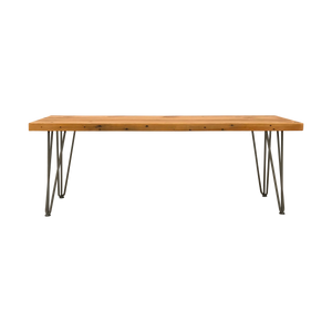 Reclaimed Wood Bench with Hairpin Legs
