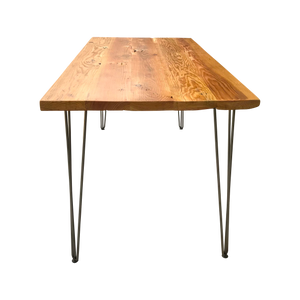 Reclaimed Wood Table with Hairpin Legs