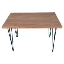 Load image into Gallery viewer, African Mahogany Table with Hairpin Legs