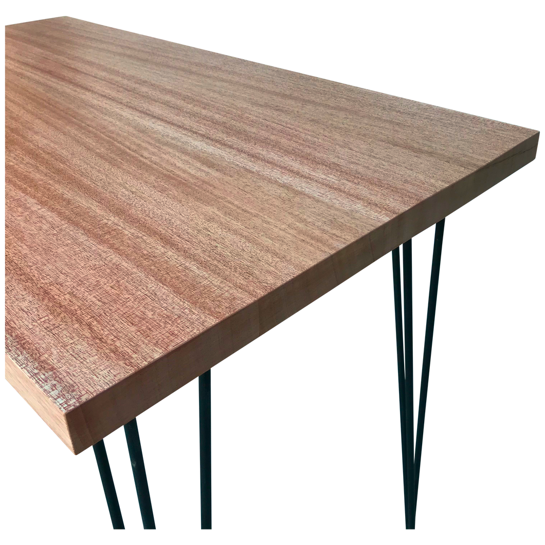 African Mahogany Table with Hairpin Legs