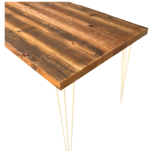 Old Growth Reclaimed Wood Table with metal legs