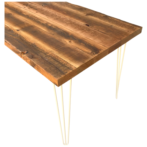 Old Growth Reclaimed Wood Table with Hairpin Legs