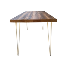 Load image into Gallery viewer, Old Growth Reclaimed Wood Table with metal legs