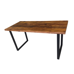 Reclaimed Wood Table with U-Shaped Legs