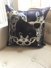 Giraffes with Sunglasses throw Pillow
