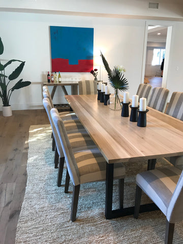 Poplar Table with Steel U-Legs