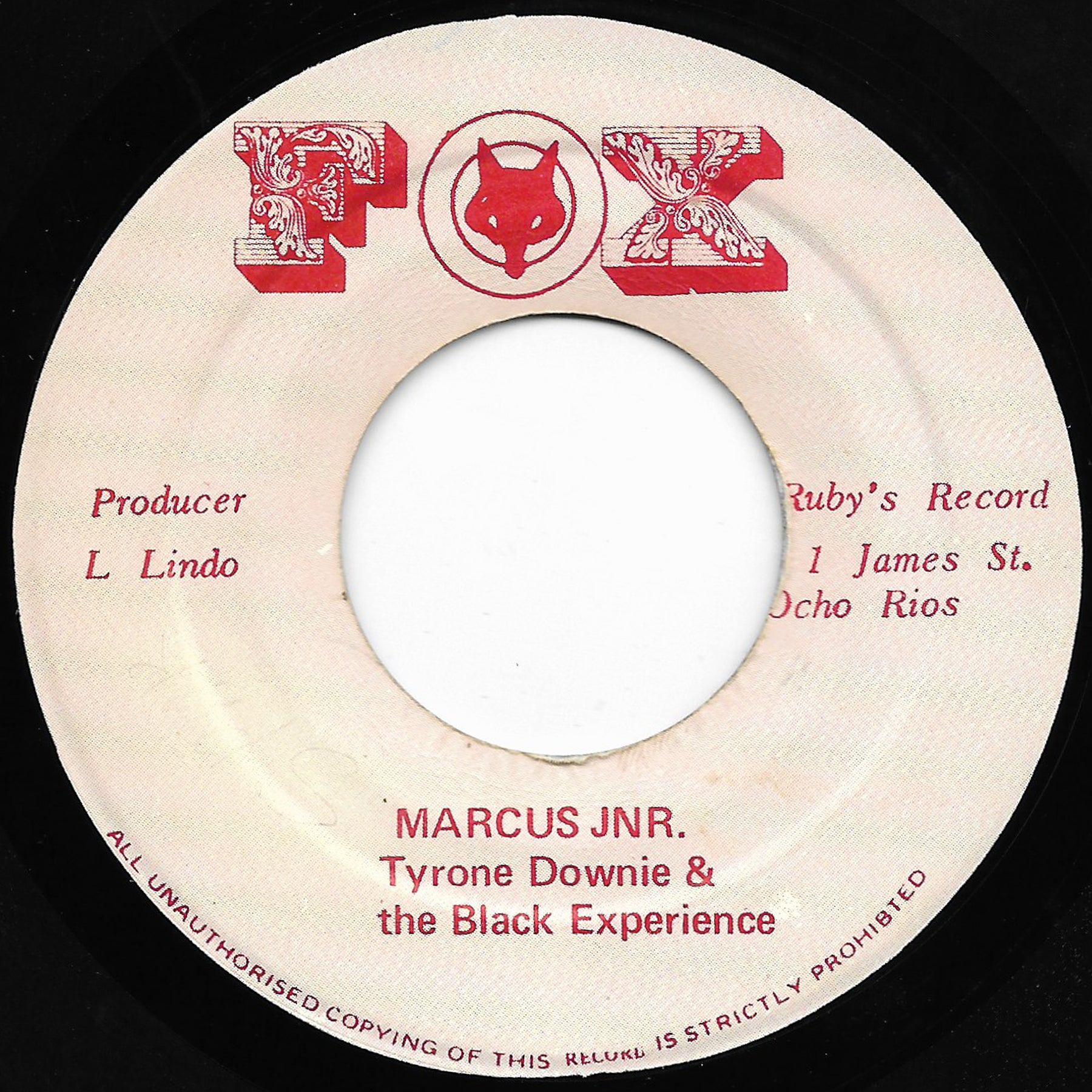 Tyrone Downie & the Black Experience - Marcus JNR.