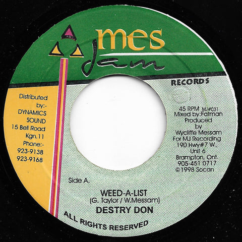 Destry Don - Weed A List / Sky Dome Version