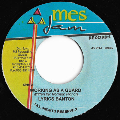Lyrics Banton - Working As A Guard / Princess
