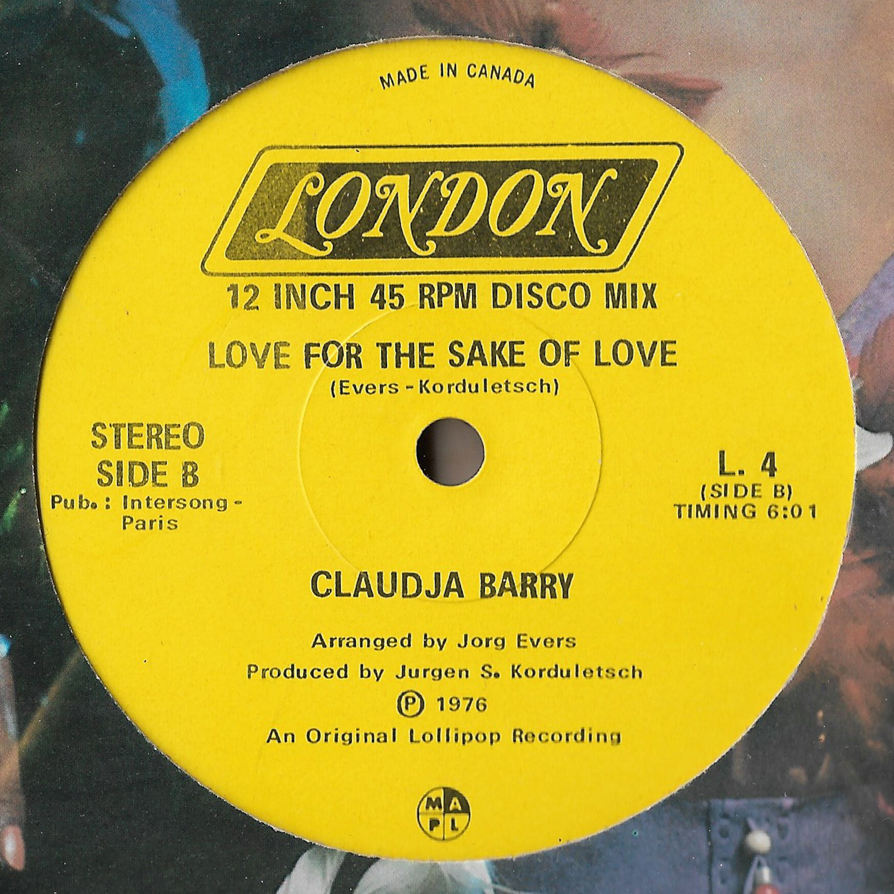 Claudja Barry - Sweet Dynamite / Love For The Sake Of Love