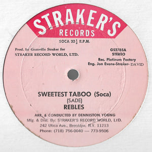 Rebles - Sweetest Taboo (Soca) / Taboo (Club Mix)