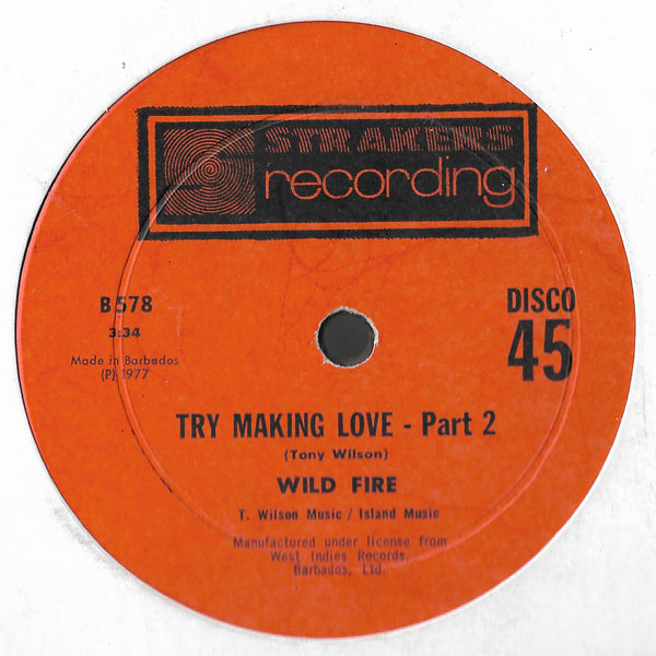 "Wild Fire - Try Making Love (12"")"