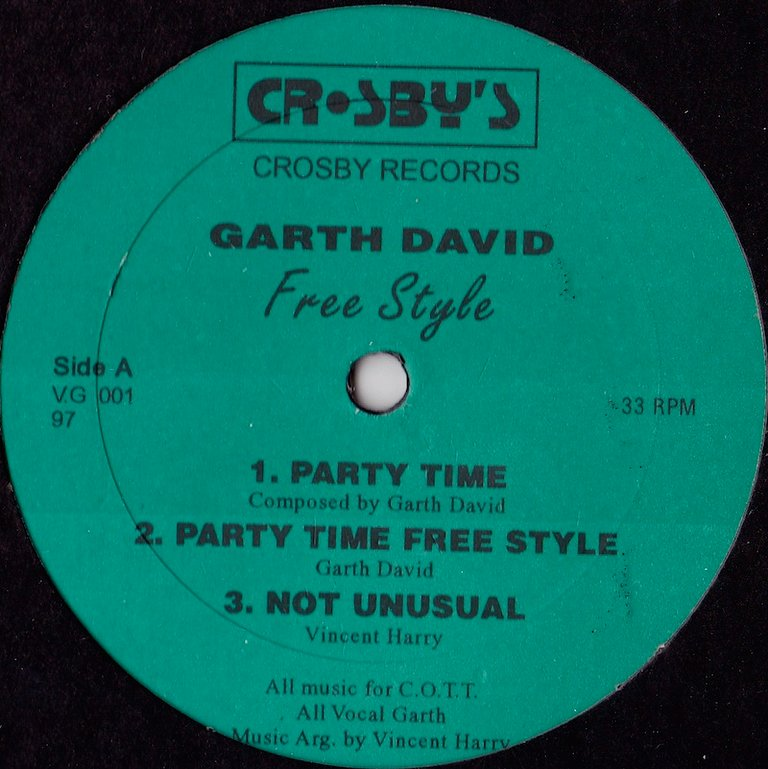 Garth David - Party Time Free Style