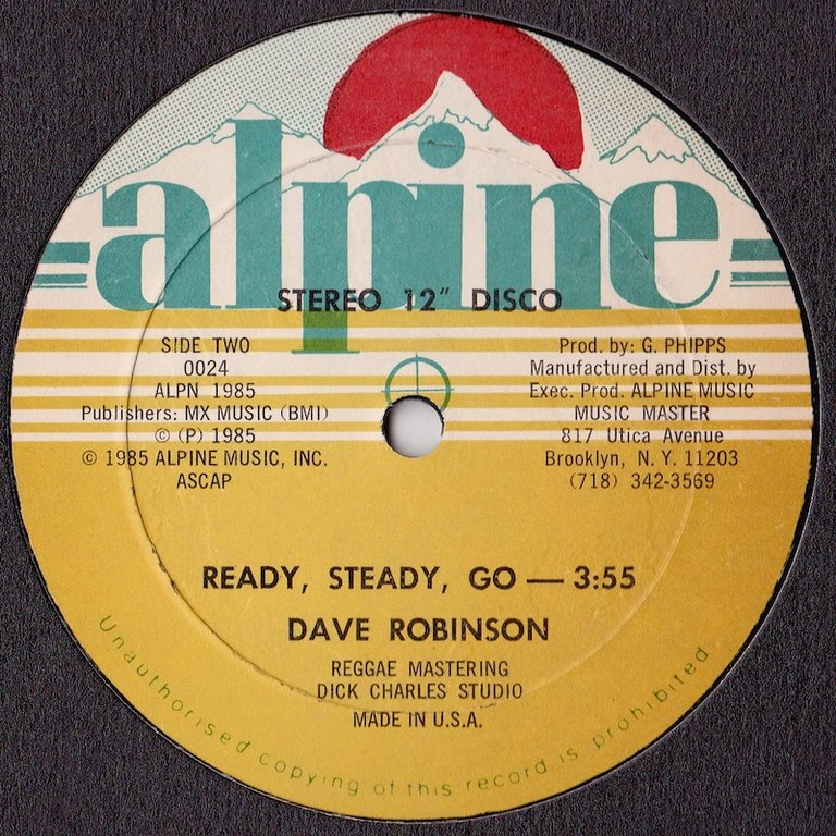 Dave Robinson - Ready, Steady, Go