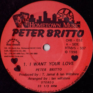 Peter Britto - I Want Your Love