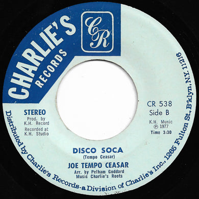 Joe Tempo Ceasar - Play On Soca Music / Disco Soca (Charlie's Records)