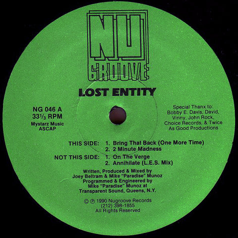 Lost Entity - Bring That Back (One More Time)